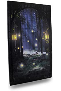 Amazon ohio wholesale radiance lighted canvas wall art zeckos canvas prints fireflies in the forest lighted led canvas wall hanging 14 x 24 x mozeypictures Image collections