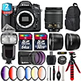 Holiday Saving Bundle for D7100 DSLR Camera + AF-P 18-55mm + Flash with LCD Display + 64GB Class 10 Memory Card + 6PC Graduated Color Filter Set + 2yr Extended Warranty - International Version