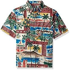 Reyn Spooner Boys' Big Hawaiian Christmas Pullover Shirt