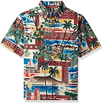Reyn Spooner Boys' Large Hawaiian Christmas Pullover Shirt