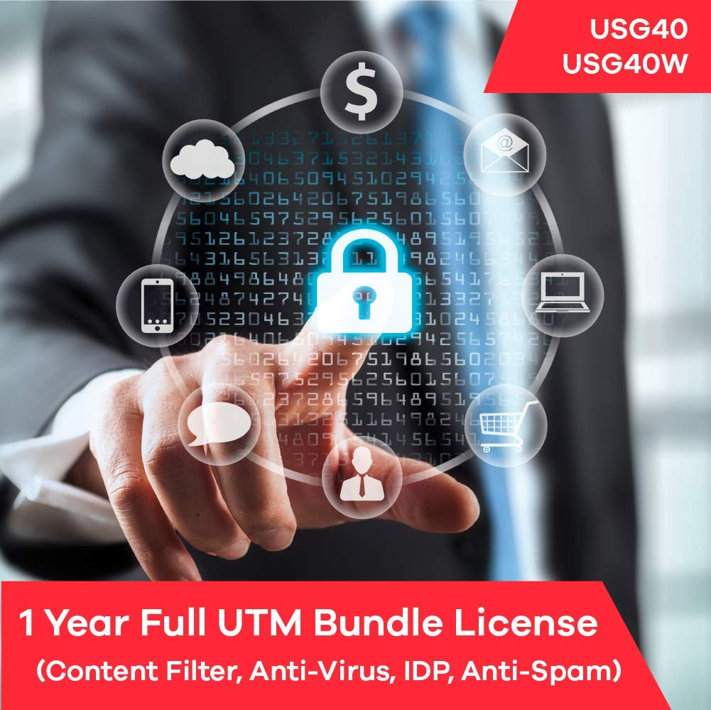 Zyxel Complete UTM Security Bundle Subscription License (1 Year) for USG40 | USG40W by Zyxel