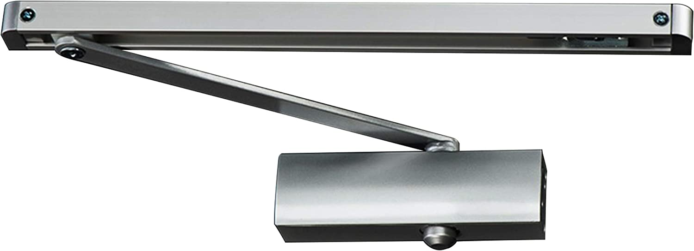 argent Ferme-porte hydraulique /à r/églage automatique PALMAT avec bras coulissant et couvercle en fer pour usage intensif