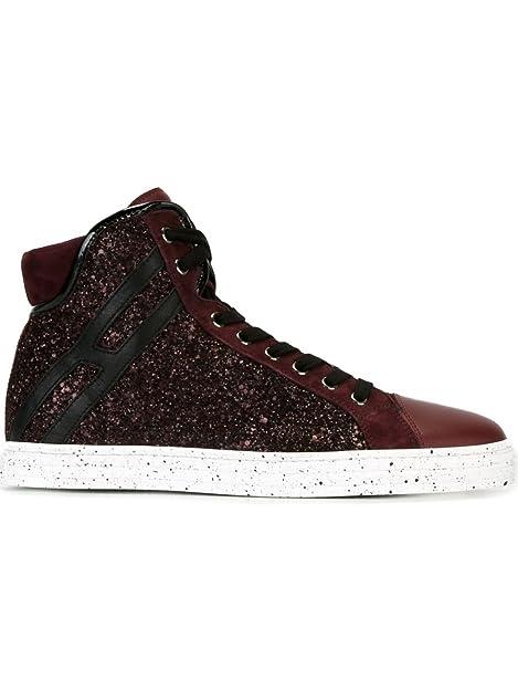 Hogan Rebel - Zapatillas de Piel para mujer granate IT - Marke Größe, color, talla 36.5 IT - Marke Größe 36.5: Amazon.es: Zapatos y complementos