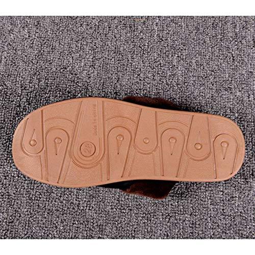 Pelle Per Da 38 Ciabatte 37 Donna E Pantofole 39 Cotone Spessa In Adatto Con Uomo Caldo Invernali Antiscivolo 40 Suola Di Casa Lianaio qYSwpx