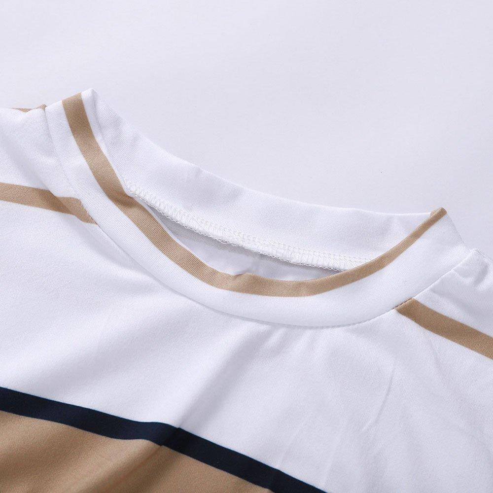 iHAZA Bodycon Slim T Shirt Dress Women Striped Cocktail Party Pencil Dresses