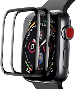 [2 Pack] Screen Protector for Apple Watch Series 6/5/4/SE 40mm 2020 Bubble-Free, 3D Full Coverage Anti-Scratch Shatter-Proof HD Clear Film Screen Protector for Apple iWatch 40mm Series 6/5/4/SE