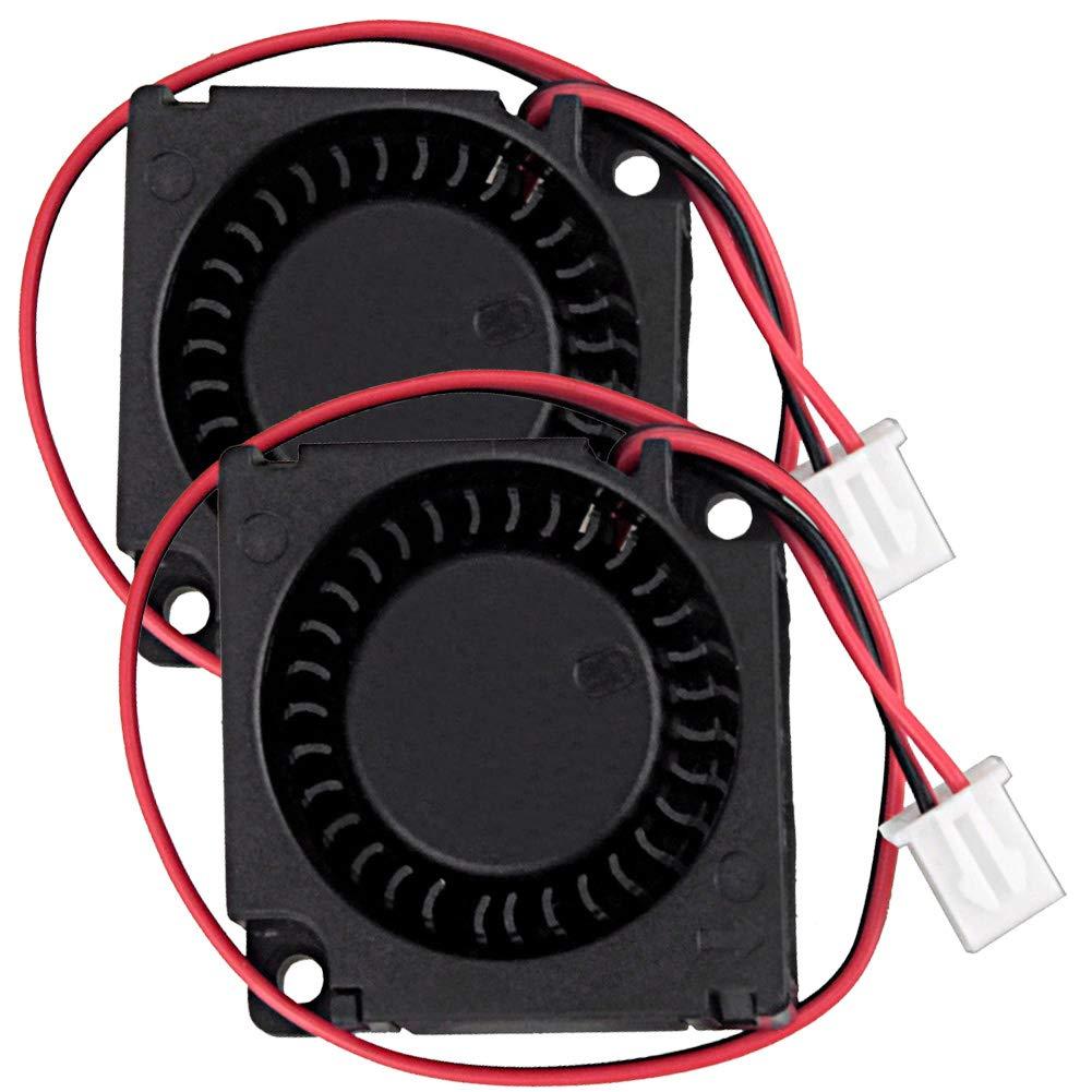 2Packs Wathai 30x10x10mm Brushless Turbo Blower Cooling Fan 30mm 12V