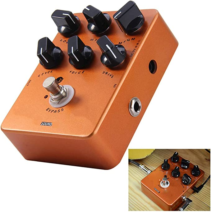 ZXCV Efecto Guitarra eléctrica Pedal Bypass Verdadero simulador de ...