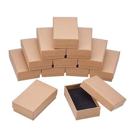BENECREAT 18 Pack Cajas de Cartón para Joyeria, Elegante Caja de Regalo Rectángulo y Tamaño