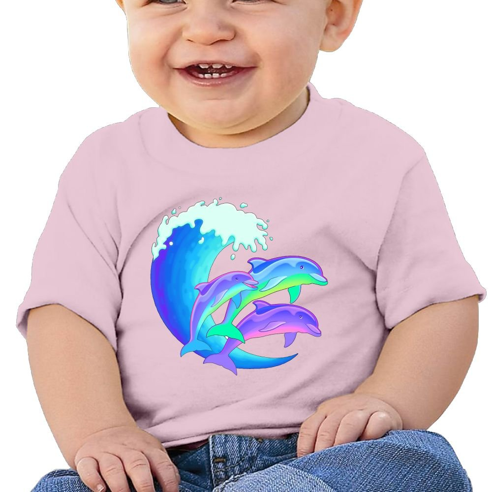 BABBY Jumping Dolphins Tee Baby Clothes Short Sleeve Graphic T Shirt Boys Girls 6-24 Month