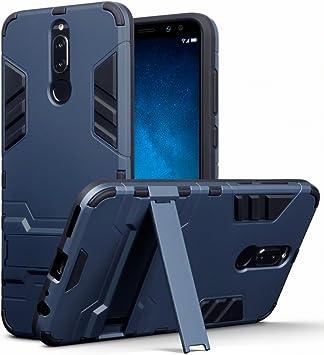 TERRAPIN Huawei Mate 10 Lite Carcasa Híbrida de Silicona + Polycarbonato Doble Resistencia, y Soporte para Mesa: Amazon.es: Electrónica