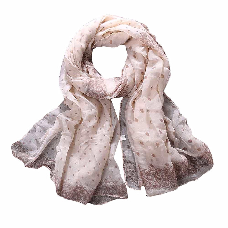@Nation Women Ladies Polka Dot Print Pattern Lace Long Scarf Warm Wrap Shawl