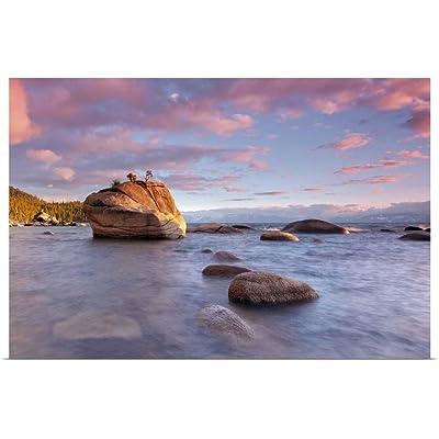 """GREATBIGCANVAS Bonsai Rock, Lake Tahoe Poster Print, 24""""x16"""": Posters & Prints"""