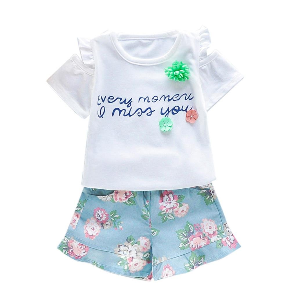 77d8960c886c7 Amazon.com : Girls Clothes Odeer 2017 1 Set Infant Baby Girl Cute O ...