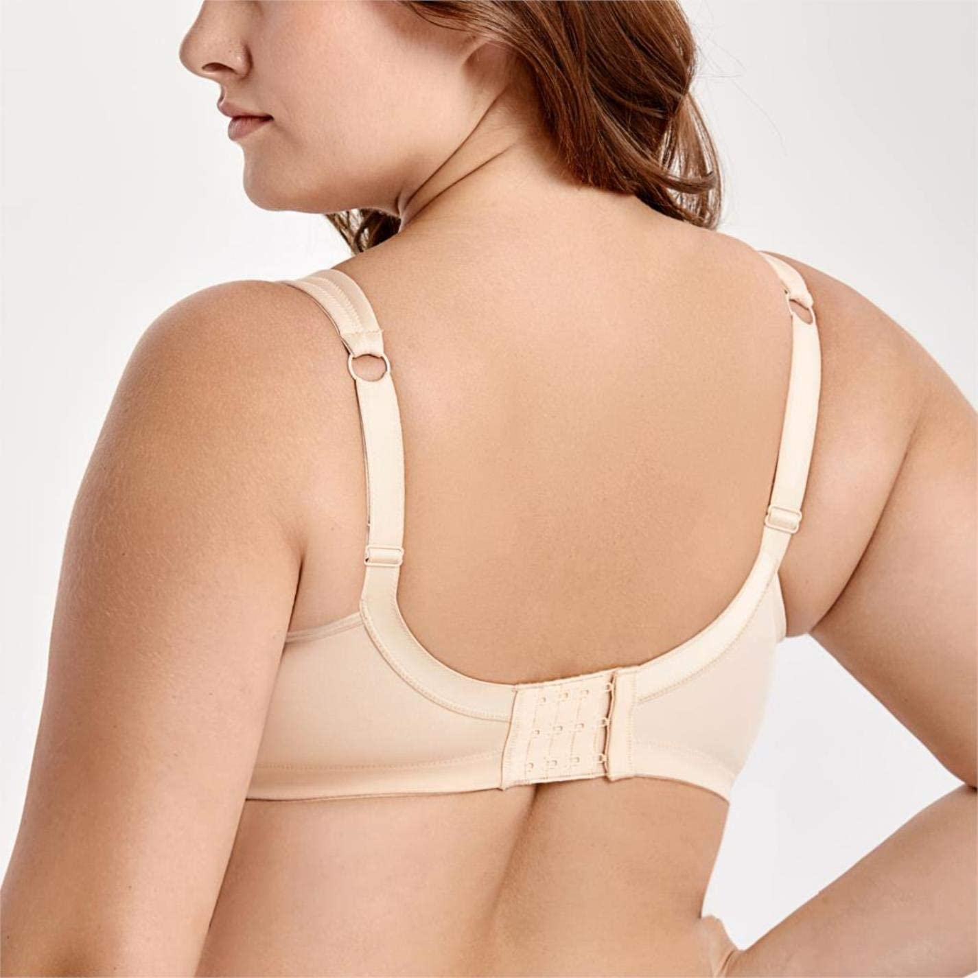 Womens Non-Padded Wire Free Comfort Lift Full Coverage Support Bra