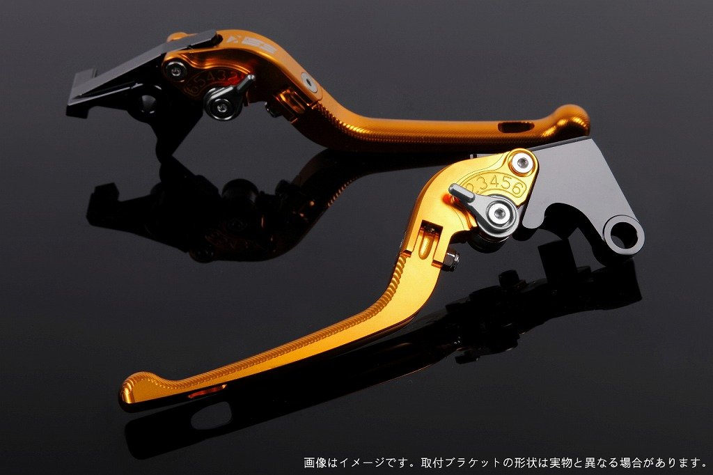 SSK アジャストレバー 3D可倒式 レバー本体カラー:ゴールド アジャスターカラー:チタン CRF1000L Africa Twin LVDG017GD-TM B07MXB83TV