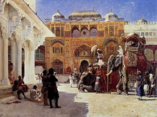 The Museum Outlet - Art Postcard - Weeks Edwin Lord Arrival Of Prince Humbert The Rajah At The Palace Of Amber - Set of 12 (Rajah Iron)