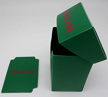 docsmagic.de Deck Box Green + Card Divider - Caja Verde - Pokemon - Yu-Gi-Oh! - Magic