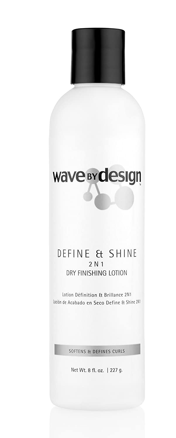 Design Essentials 2-N-1 Dry Finishing Lotion to Restore, Define & Revitalize Waves, Curls, and Texturized Styles -Wave By Design Collection, 8oz.