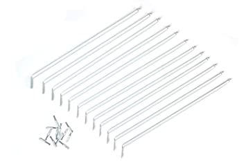 ClosetMaid 21775 12 Inch Support Brackets For Wire Shelving, 12 Pack