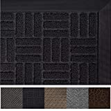 Gorilla Grip Original Durable Rubber Door Mat, 72 x 24, Heavy Duty Runner Doormat for Indoor Outdoor, Waterproof, Easy Clean, Low-Profile Rug Mats for Entry, Patio, High Traffic Areas, Black Maze