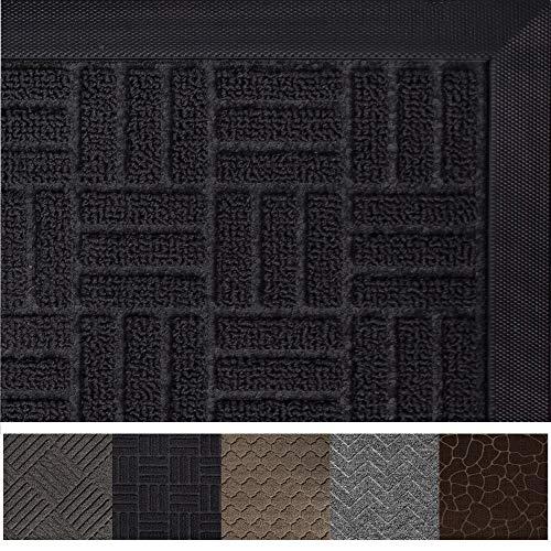 Gorilla Grip Original Durable Rubber Door Mat, 72 x 24, Heavy Duty Runner Doormat for Indoor Outdoor, Waterproof, Easy Clean, Low-Profile Rug Mats for Entry, Patio, High Traffic Areas, Black Maze (Runner Mat Outdoor)