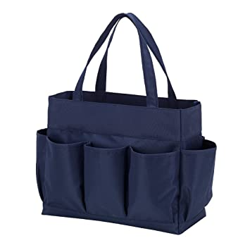 Amazoncom Carry All Tote Bag With 7 Outside Pockets Navy Clothing