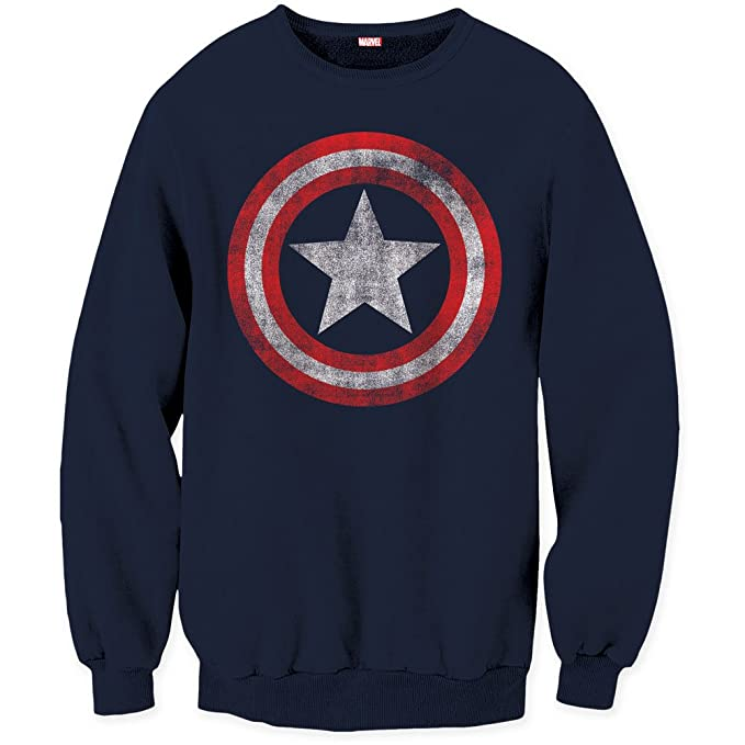 Logo Navy Comics Marvel America Small Uomo Capitan Shield Maglione qTXn7WSzxw