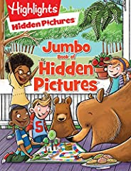 Presenting the biggest Hidden Pictures® collection ever!   This 256-page jumbo book is packed with over 175 black-and-white Hidden Pictures® puzzles. You'll find pigs riding unicycles, kangaroos visiting the moon, pigeons playing pranks, and ...