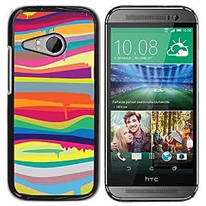 TopCaseStore / la caja del caucho duro de la cubierta de protección de la piel - Colors Lines Abstract Colorful - HTC ONE MINI 2 / M8 MINI