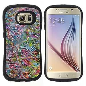 """Pulsar iFace Series Tpu silicona Carcasa Funda Case para Samsung Galaxy S6 , Arte abstracto en colores pastel en color"""""""