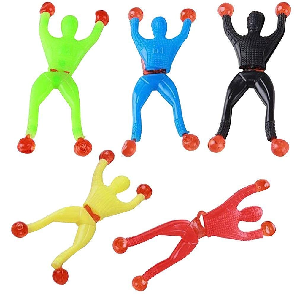 Spider Man Sticky Wall Climbing Flip Rolling Crawler Kids Toy Favors bag Toy UK