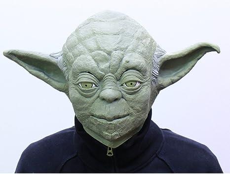 Amazon com: Star Wars Yoda Full Face Rubber Mask (Made in