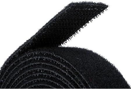 Black Hook /& Loop Self Adhesive Strong Gripping Fastener Tape 1 x 16 Industrial Strength