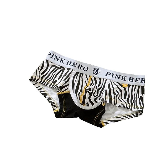 Guoke Cómodo Y, No Fácil De Deformar Los Hombres Cartoon Zebra Ropa Interior De Algodón