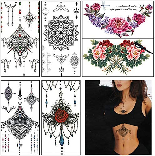Tattoos Flower Temporary Waterproof Stickers product image