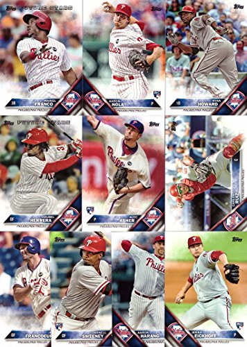 Philadelphia Phillies Mlb Card (2016 Topps Series 1 Philadelphia Phillies Baseball Card Team Set - 10 Card Set - Includes Maikel Franco, Ryan Howard, Carlos Ruiz, Aaron Nola, and)