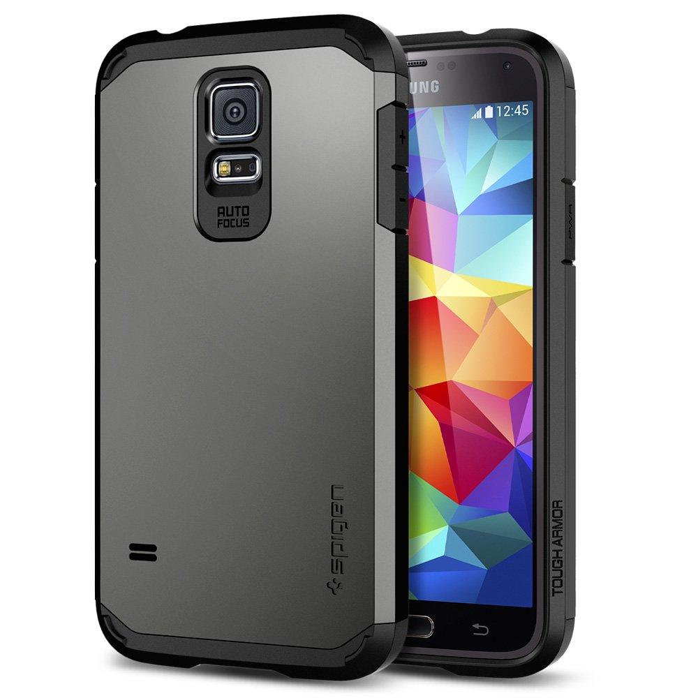 Spigen Tough Armor Designed for Samsung Galaxy S5 Case (2014) - Gunmetal