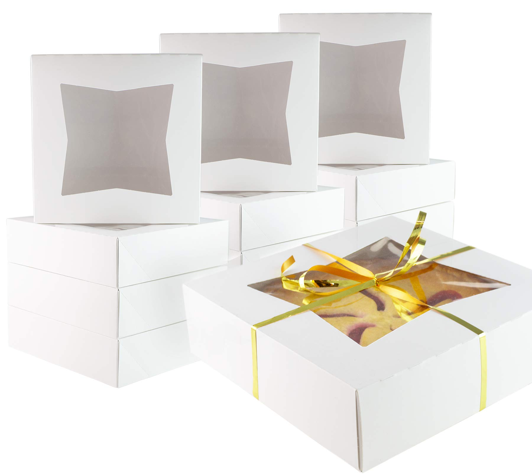 Chefible 10x10x2.5'' Pie Boxes with Window- Perfect for Pies, Pastries, Cookies and More! Set of 200 by Chefible®