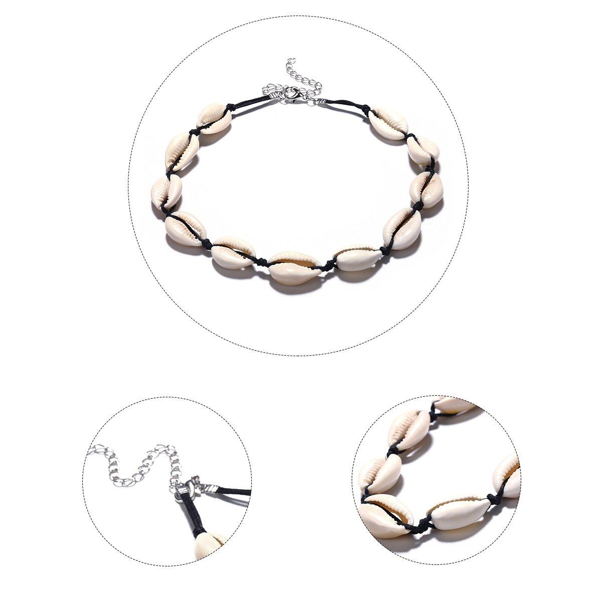 db0318a9c3b6 Collar bohemio de conchas de playa para mujer Yakiki H047-048