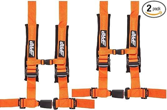 "PRP 4 Point Harness 3/"" Pads Seat Belt PAIR ORANGE Polaris RZR XP Turbo 1000"