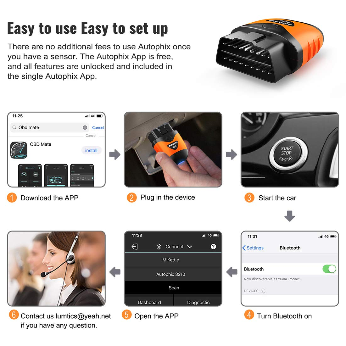 AUTOPHIX 3210 Bluetooth OBD2 Enhanced Car Diagnostic Scanner for iPhone, iPad & Android, Fault Code Reader Plus Battery Tester Exclusive App for Quality-Newest Generation by AUTOPHIX (Image #7)