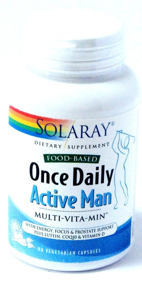 Solaray Once Daily Active Man VCapsules, 90 Count