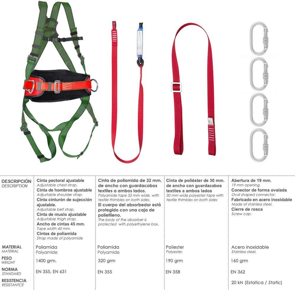 Wolfpack 15030065 Arnes Anticaidas Kit Seguridad Nº 2 (7 piezas ...