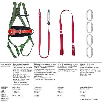 Arnes Anticaidas Kit Seguridad Nº 2 (7 piezas) EN361: Amazon.es ...