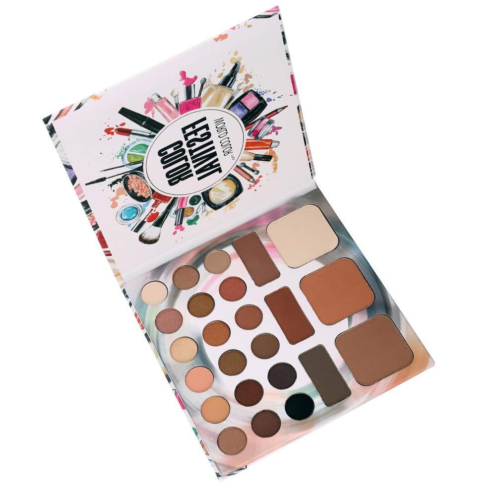 24 Farben Gesicht Highlighter Puder-Paletten-Corrector Concealer Leistungspalette Contouring Highlighter Bronzer Make-up-Puder by 12shage