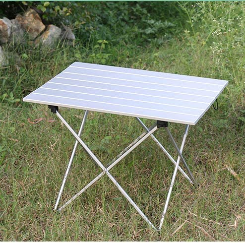 EmmmE Mesa de Picnic al Aire Libre, Mesa Plegable de Aluminio ...