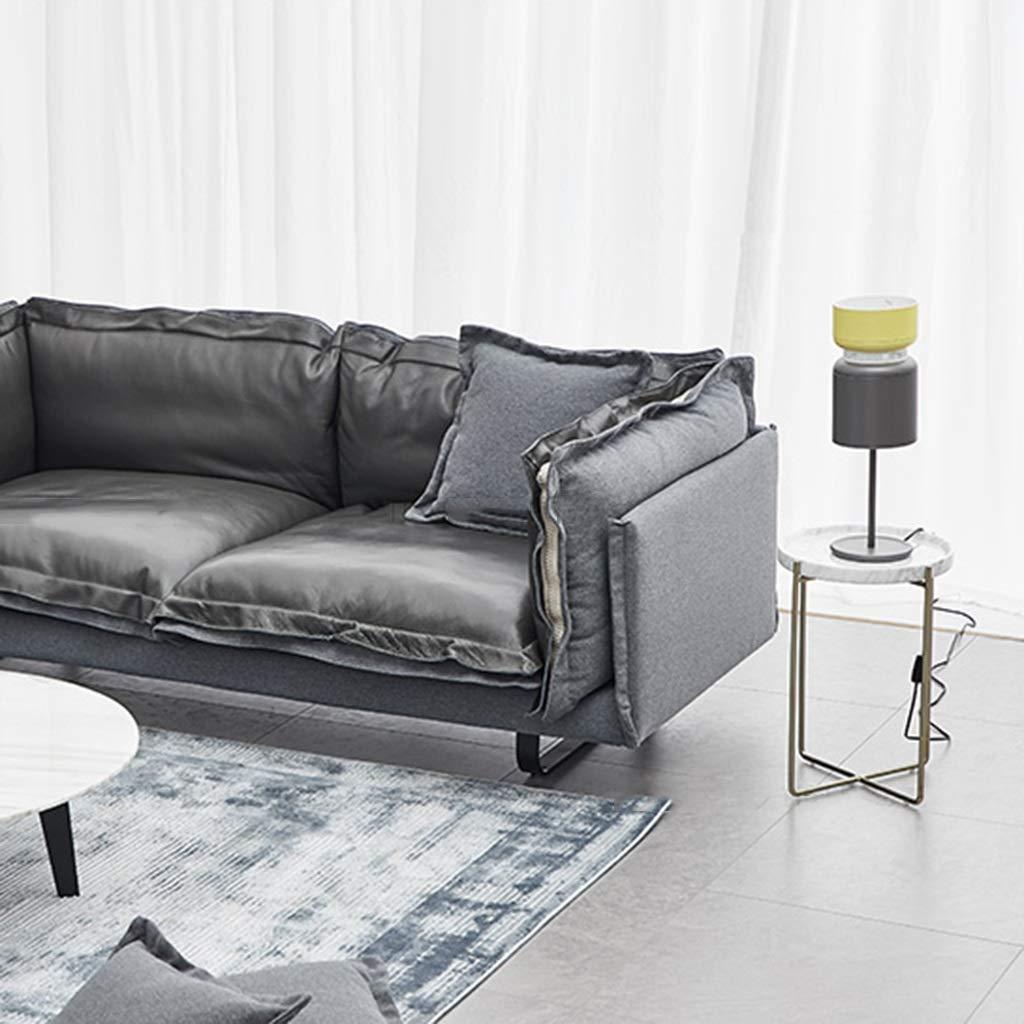 Amazon.com: Mesas de café, mesa redonda de metal con diseño ...