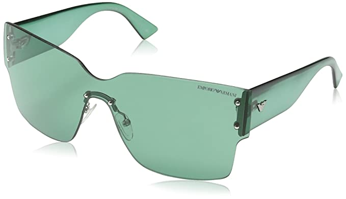 Emporio Armani - Gafas de sol Wrap EA 9894/S, Light Blue & Grey