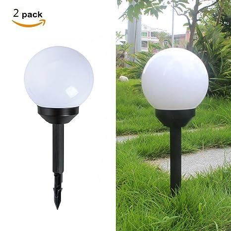 Lampade Solari Da Giardino Amazon.Lampade Solari A Sfera Da Giardino Confezione Da Due Pezzi